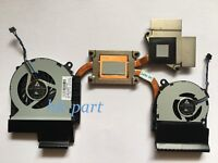 NEW for HP Envy 15-3000 series dual cooling fans with heatsink SPS 668827-001