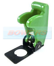 12V 24V GREEN FLIP UP AIRCRAFT MISSILE STYLE TOGGLE FLICK SWITCH COVER GUARD