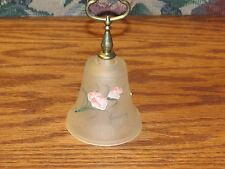 Vintage Satin Glass Bell/Brass Handle