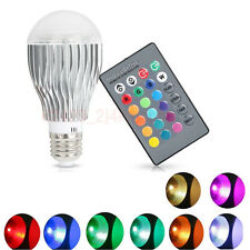 16 Colors Changing 9W Home Magic E27 RGB LED Lamp Light Bulb + IR Remote Control