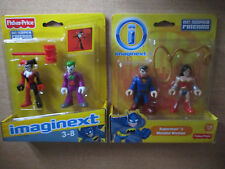 Imaginext Joker Harley Quinn Superman Wonder Woman DC Super Friends NEUF