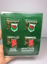 New Dept 56 Heritage Village Town Collection Banner Signs Metal Christmas 5526-3