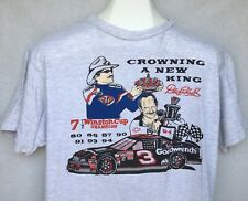 Vtg Dale Earnhardt Richard Petty T Shirt Crowning A New King Winston Cup Champ