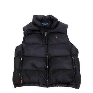 Polo Ralph Lauren Puffer Vest Mens Size XL Black Full Zip RL/150