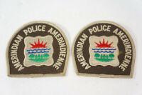 Vintage Amerindian Police Patch Amerindienne Quebec Canada Autochtone Jaune