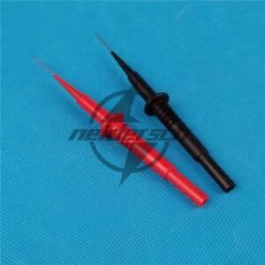 2PCS Insulation Piercing Needle Test Probes 4mm banana plug Multimeter jack NEW