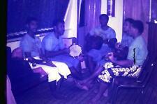 35mm Colour Slide- Crew of the Oleanda Cruiseship singing - Fiji   - 1980's