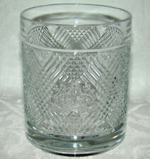 1980's Ralph Lauren Safari Crystal Double Old Fashion Tumbler Whiskey Glass