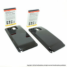 2 x 7000mAh Extended Battery for Samsung Galaxy Note 3 N9000 Black Cover