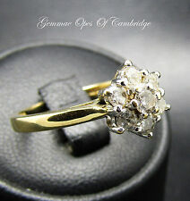 18ct Gold Diamond Cluster Ring Size N 3.6g 0.50 diamond carat weight
