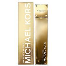 Michael Kors 24k Brilliant Gold Eau de Parfum, 3.4 oz/100 ml New in Sealed Box