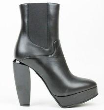 Marni Black Leather Platform Ankle Boots EU 37 US 7 $1026