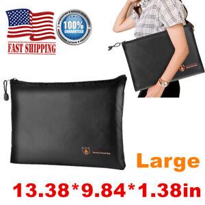 Fireproof & Waterproof Document Envelope File Cash Pouch Money Safe Bag Large