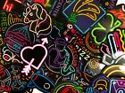 20 Random Colorful Neon Light Style Anime Skateboard Laptop Stickers Lot Bomb