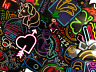50 Colorful Neon Light Style Skateboard Laptop Stickers Lot - Fast US Shipping