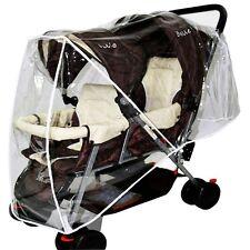 Newly Stroller Rain Cover Tandem Pram Pushchair Carriage Clear Wind Dust Shield