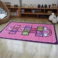Pink Kids Rug for Bedroom Children's Carpet Playroom Area Rug Playing Mat