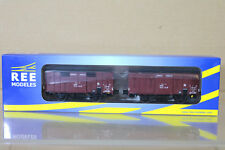 REE MODELES WB-247 SNCF PLM COUVERT OCEM 19 GOODS WAGON SET Ep II ng