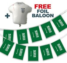 Football World Cup 2018 Set - Saudi Arabia Flags - bunting + free foil balloon