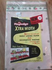 Royledge Xtra Width Shelf Lining Paper Pink Vintage with decorative edging NEW