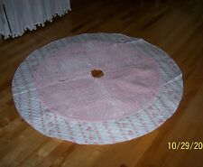 NWT Rachel Ashwell Simply Shabby Chic Pink Velvet Tree Skirt Blush Beauty Roses