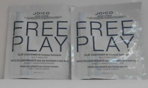 2 Pks ~ JOICO FREE PLAY CLAY LIGHTENER Freehand Techniques Up to 7 Levels ~ 1 oz