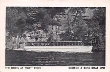 Lake Placid Ny The Doris At Pulpit Rock~George & Bliss Boat Line Postcard 19