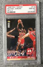 Michael Jordan 1996 Collector's Choice INTERNATIONAL II #114 PSA GEM Mint 10