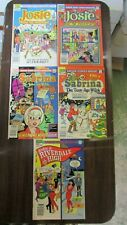 Lot of 5 Archie Comics Featuring Josie and the Pussycats, Sabrina, and Cheryl