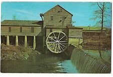 OLD MILL PIGEON FORGE Water Wheel Little River Smoky Mts Tennessee Postcard TN