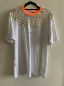 Kolor X Adidas White Gold Orange Athletic Shirt