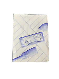 Original Thomas Bechunas Ball Point Pen Sketch