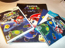 Super Mario Galaxy (Nintendo Wii, 2007) + Premiere Edition Strategy Guide