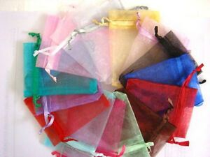 """6""""x9"""" Large Organza Gift Bag Jewelry Pouch Wedding Favor packing bags 16x22cm"""