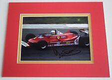 Jody Scheckter Signed Autograph 10x8 photo display Formula 1 Motor Racing COA