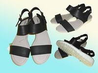 schwarze modische Damenschuhe Sandalen Sandaletten Schuhe Gr. 40 NEU