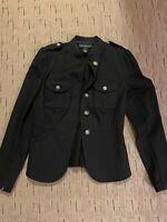 INC International Concepts XS Black Military Stretchy Jacket