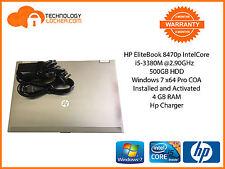 HP EliteBook 8470p IntelCore i5-3380M @2.90GHz 4GB MEM 500GB HDD Window 7 Pro