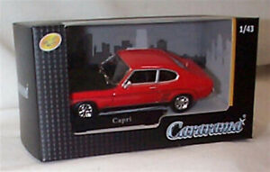 Ford Capri Red Black bonnet 1-43 scale new in box