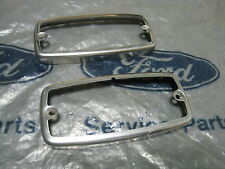 MK1 ESCORT RS2000 TWIN CAM MEXICO GT GEN  FORD NOS PAIR OF REVERSE LAMP BEZELS