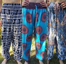 Bali harem pants Boho yoga happy hippie gypsy Aladdin womens size S M L one-size