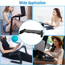 Adjustable Laptop Desk Computer Stand Tables Standing Bed Tray Folding Study