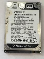 HARD DISK DRIVE HD HDD SATA 2.5 2,5 WD SCORPIO BLACK WD3200BEKT 499053-002 320GB