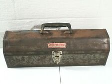 Vintage Craftsman 20'' Mechanics Tool Box with Removable Top Tray Crown Logo