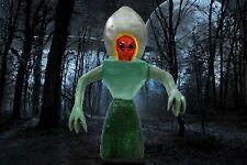 """""""THE FLATWOODS MONSTER / ALIEN"""" My hand carved/painted & signed wood figure"""