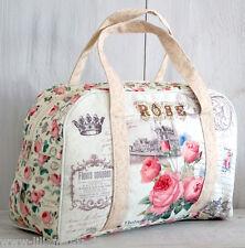 Tasche Kulturtasche Kulturbeutel Rose Blumen Damen groß Muster bunt Vintage XL