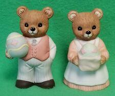 "Pair of Homco 3"" Easter Bears # 1430 - Vgc"