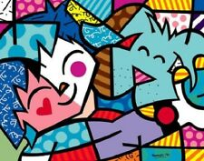 Best Friends by Romero Britto Abstract Print 14x11