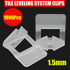 1000X Tile Leveling System Spacer Clips Wall Flooring Tiling Tool 1.5mm 1/16''
