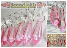 WEDDING WISHING CRYSTALS 5 CHANDELIER DROPS XMAS TREE DECORATION BEADS PRISMS BN